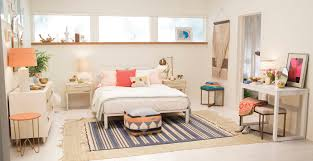 Target Emily Henderson Bedroom White Blue Orange Casual Calm