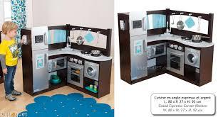 cuisine bois kidkraft cuisine en angle expresso et argent jouets kidkraft kidkraft