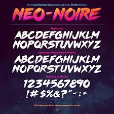Neo Noire A Signalnoise Font