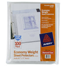 Clear Sleeve Floor Protectors Canada by Avery Sheet Protectors Economy Clear 100 Ct Meijer Com