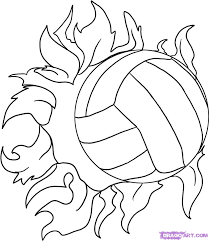 Volleyball Net And Ball Drawing Learn How To Draw A