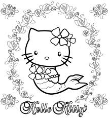 Prowess Hello Kitty Mermaid Coloring Pages Printable Activity