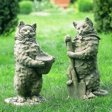 cat garden statue 85 best cat gardens images on cat garden cats and