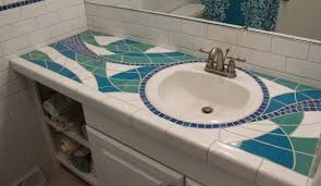 mosaic bathroom countertop sycamore tile works