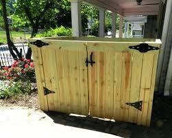 garbage bin storage unit cedar garbage can storage plans modern