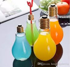 2016 sale light bulb shape bottles fruit juice drink bottle