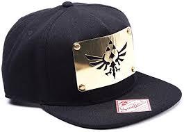 zelda nintendo triforce logo golden metal plate snapback cap