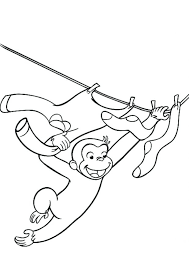 Curious George Coloring Pages Games To Print Book Pictures Day Free Monkey