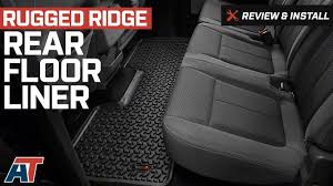 Rugged Ridge Floor Liners by 2009 2014 F150 Rugged Ridge Rear Floor Liner Review U0026 Install