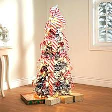 Pull Up Christmas Trees Decorated Valuable Lit Pop Tree 4 Ft Fully