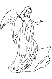Angel Coloring Pages Guardian Sheets Free