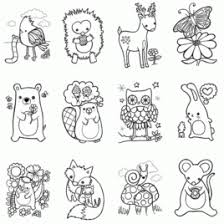 Woodland Animals Coloring Pages AZ