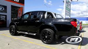 100 Custom Truck Wheels 4x4 2009 Mitsubishi Triton 20 Inch Custom Rims KMC Hoss Full Black