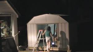 arrow galvanized steel storage shed 10x8 time lapse puttin up the shed