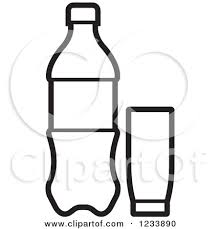 Soda Water Clipart for Soda Bottle Clipart Black And White