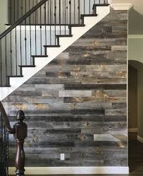 Stikwooddesign Reclaimed Weathered Wood Staircase Wall Accent