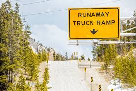100 Runaway Truck Ramp Video Road Sign Stock Photo Picture And Royalty Free
