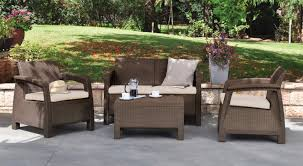 Premium Poly Patios Complaints by Mercury Row Berard 4 Piece Rattan Seating Group With Cushions