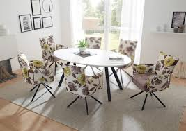 essgruppe jean tisch mit 4 stühlen esstisch küchentisch ausziehbar glas weiß oval
