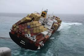 The MV Rena Lost An Estimated 900 Containers When It Ran Aground And Broke Up Off