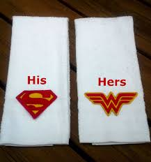 Finding Nemo Bath Towel Set by Superman And Wonder Woman Hand Towel Set Super Hero His And Hers