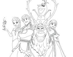 Frozen Coloring Pages Elsa Page Fever To Print Pdf Book Color Olaf Characters