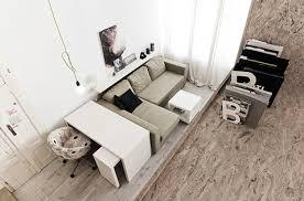aménager de petits espaces l aménagement d un studio de 29 m2 bien pensé espace salon