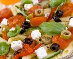 salade de pâtes à la grecque recette de salade de pâtes à la