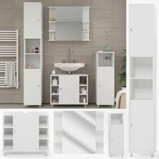 vicco badmöbel set fynn badezimmer spiegel kommode