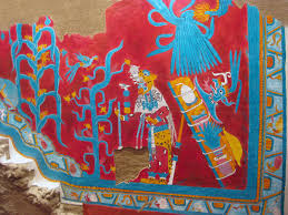 San Bartolo Murals National Geographic by Cacaxtla Mural 10 Jpg 1600 1200 Pre Colombian Painting In The