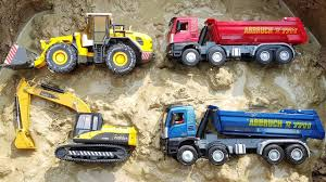 Toy Cars Playing For Kids | Excavator Road Roller Dump Truck ...