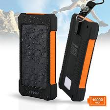 Solar Charger Levin mAh USB Solar Panel Portable Charger for