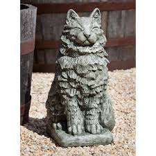 cat garden statue cania international cheswick the cat cast garden statue