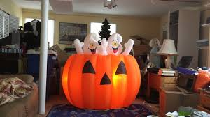 Halloween Airblown Inflatables by Gemmy Animated Inflatable Prototype 6ft Ghosts In Pumpkin