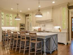 French Country Kitchens Ideas In Blue White Colors Cabinet