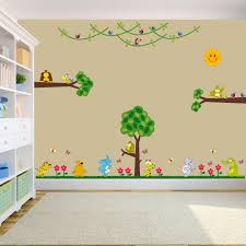 Wall Decal Winnie The Pooh by Large Jungle Animals Full Colour Wall Stickers For Kids 11 Loversiq