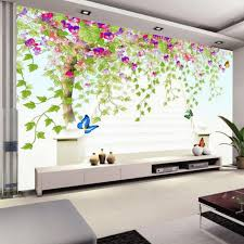 Custom Photo Wall Paper 3D Flower Vine Tree HD Large Painting Wallpaper Modern Living Room