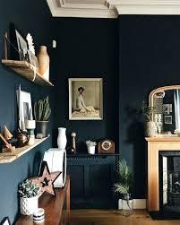Dark Blue Walls Best Ideas On Navy Accent Wall Dining Room