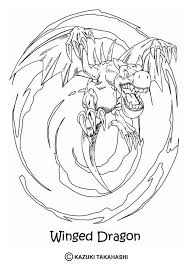 Yu Gi Oh Coloring Page Enjoy The Winged Dragon