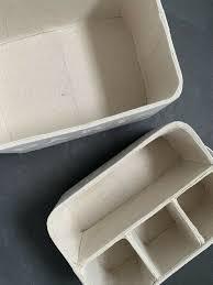 2 x aufbewahrung boxen kisten korb badezimmer vintage stil
