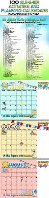 Plan Out Your Summertime Activities With These Ideas And Planning Calendars Over 100 To