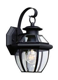 8037 12 one light outdoor wall lantern black