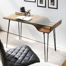 Black Writing Desk And Chair best 25 glass desk ideas on pinterest glass office desk glass