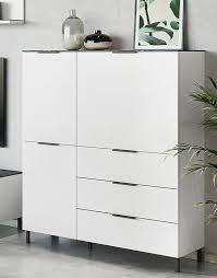 cary highboard wohnzimmer weiß marmor günstig möbel küchen büromöbel kaufen froschkönig24