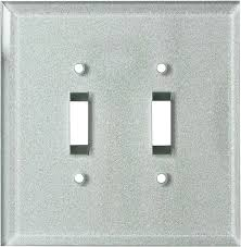 glass silver mirror switch plates outlet covers