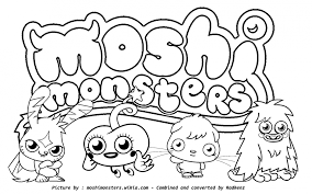 Moshi Monsters Coloring Pages Yoall 139000