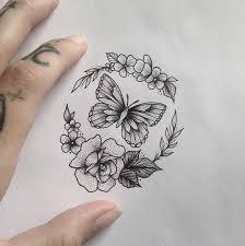 Butterfly Flowers Tattoo By Medusalouxoutlook