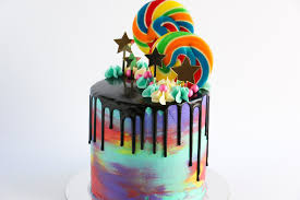 Cake Decoration Ideas With Gems by Loaded Watercolour Drip Cake Rosie U0027s Dessert Spot Youtube