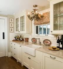 Kitchen Traditional Designs For Small Kitchens With White Counter And