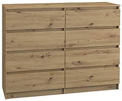 bim furniture kommode mit 8 schubladen marbella 8 120 cm sideboard highboard mehrzweckschrank schlafzimmer wihnzimmer artisan 120 cm